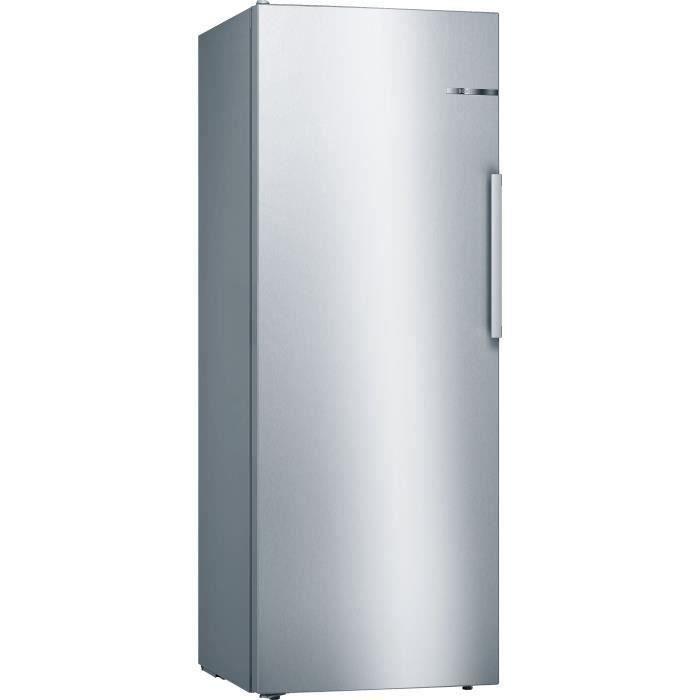 BOSCH KSV29VLEP - Réfrigérateur 1 porte - 290 L - Froid statique - A++ - L 60 x H 161 cm - Inox côtés silver