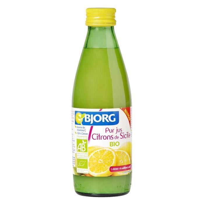 BJORG Pur Jus de Citrons de Sicile Bio 25cl