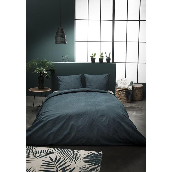 TODAY Parure de couette Jardin d'Hiver Don't Leaf Me - 100% coton - 1 Housse de couette + 2 Taies d'oreiller - 220 x 240 cm