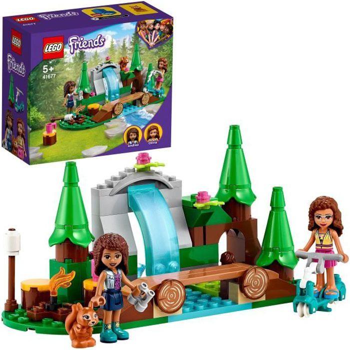 LEGO® 41677 Friends La cascade dans la forêt – Jeu de Construction avec Mini Poupées Andréa et Olivia + Écureuil Jouet Enfant 5 ans