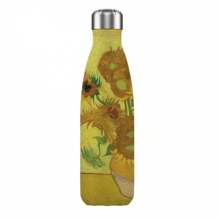 Bouteille isotherme design 'Vincent Van Gogh' (tournesols) - 25x5 cm (500 ml) [A0867]