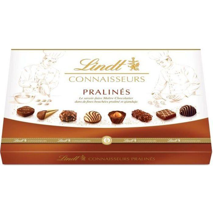 LINDT Boîte de chocolat Connaisseurs Pralinés - 409 g
