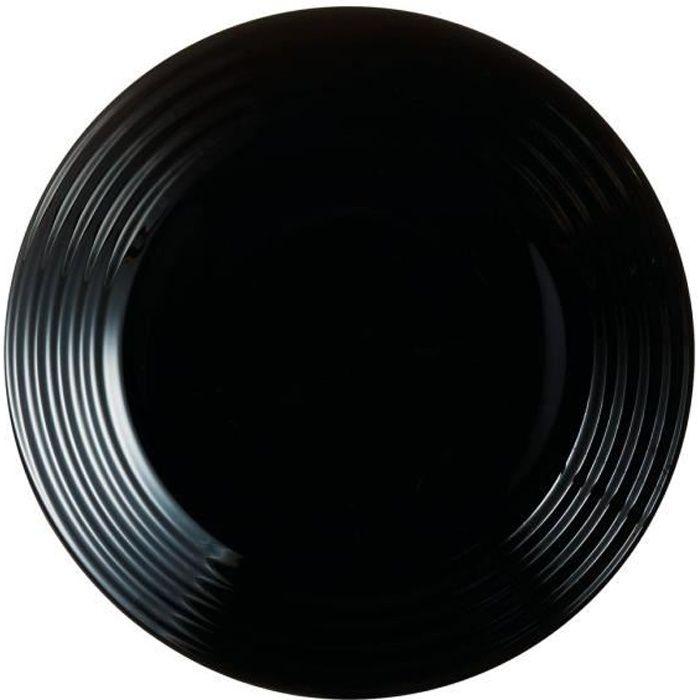 Assiette à dessert 19 cm - Harena Noir - Luminarc