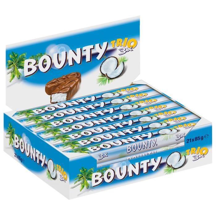 Bounty Trio 3, chocolat, 21 Barres