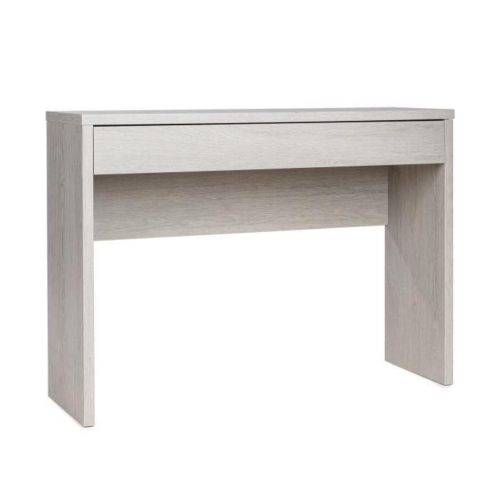 MEUBLES COSY Table de Console - Table d'entrée - Style Scandinave - Décor Chene cendré - 109 x 34 x 81 cm