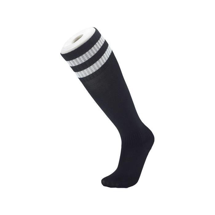 Chaussettes de football section mince pour enfants Chaussettes montantes de Compression Garçon Fille Chaussettes de sport à rayures