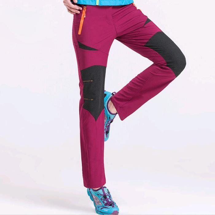 pantalon de sport de montagne Femme Épissure Type Mince de Marque léger imperméable Pantalon de pluie pour Femme