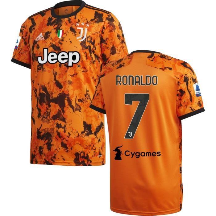 Nouveau Maillot Juventuss 2020 2021 Maillot de Foot 7 Cristiano Ronaldo Juves Pas Cher pour Homme