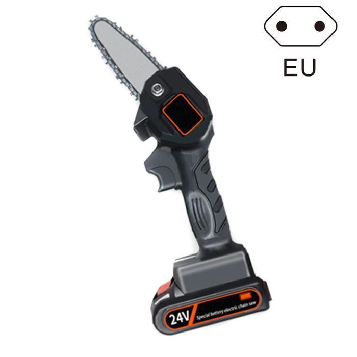 Mini tronçonneuse électrique de 4 pouces jamais coupeur de bois à piles rechargeable