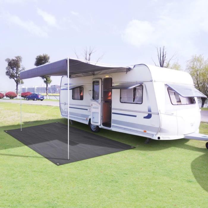 Tapis de camping 250 x 400 cm Anthracite - 91261 Gris