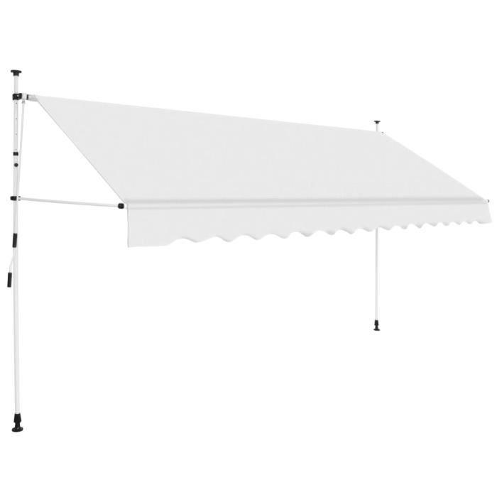 Auvent manuel rétractable 400 cm Crème - Pelouses et jardins - Vie en extérieur - Stores extérieurs - Crème - Crème