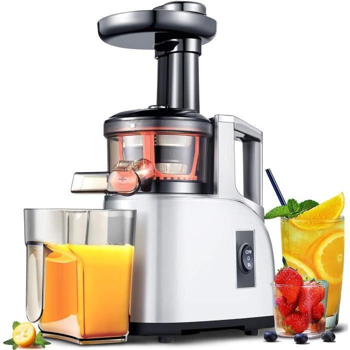 ///écran LED//brosse de nettoyage et moteur silencieux pour l/égumes et fruits,Argent AMZCHEF Extracteur /à Jus de Fruits et L/égumes avec 2 vitesses//2 bouteilles deau portable 500ml Extracteur de Jus