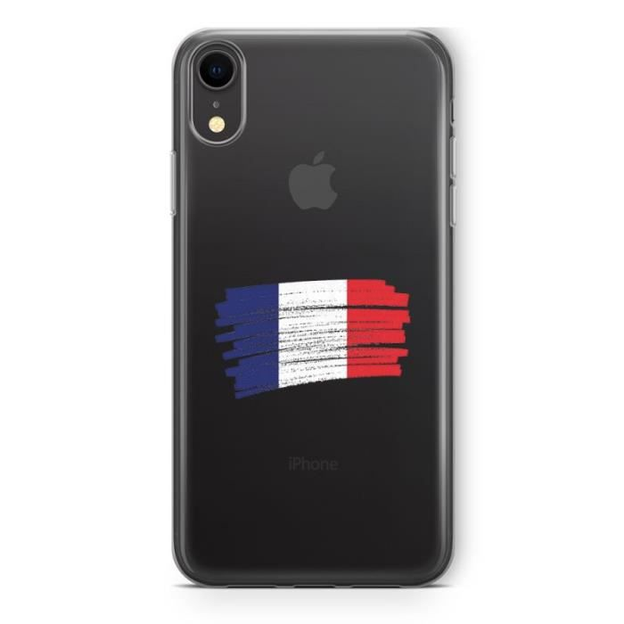Coque iPhone XR France Blanc