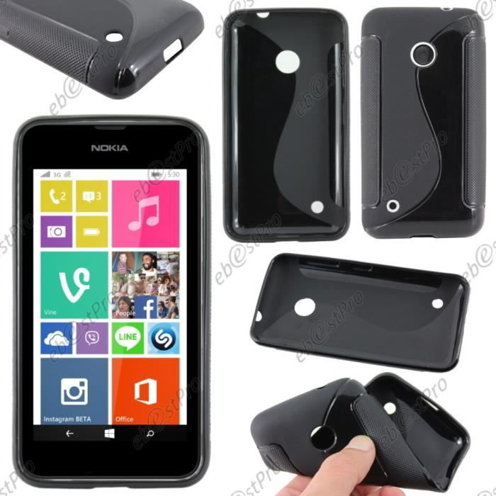 Ebeststar housse vague nokia lumia 530 noir film for Housse nokia 6