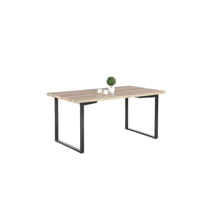 table salle a manger bois et metal achat vente table. Black Bedroom Furniture Sets. Home Design Ideas