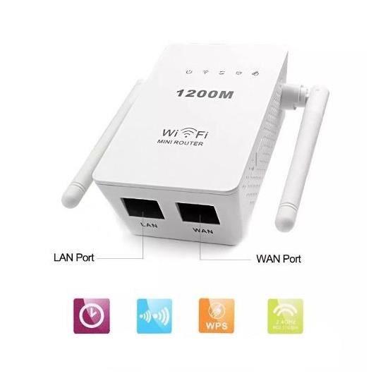 POINT D'ACCÈS Répéteur Wifi 300 Mbps Double Antenne 2.4G Wifi Am