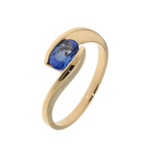Bague or jaune Tanzanite