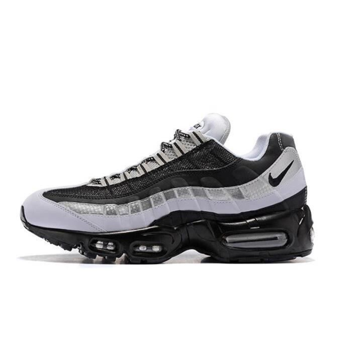 Homme Nike Air Max 95 Essential Baskets Chaussures De Sport Noir Blanc