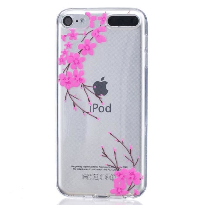 coque pour apple ipod touch 5 6 5g 6g gen rose silicone. Black Bedroom Furniture Sets. Home Design Ideas