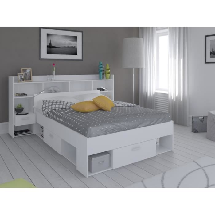 lit avec tete de lit rangement t te de lit avec rangement. Black Bedroom Furniture Sets. Home Design Ideas