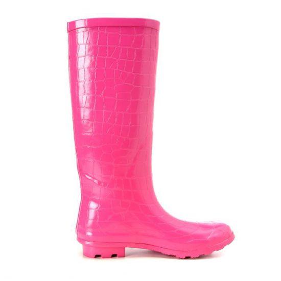 de Rose ROSE caoutchouc FLAVOR Bottes en SIMPLE pluie 45AjLR