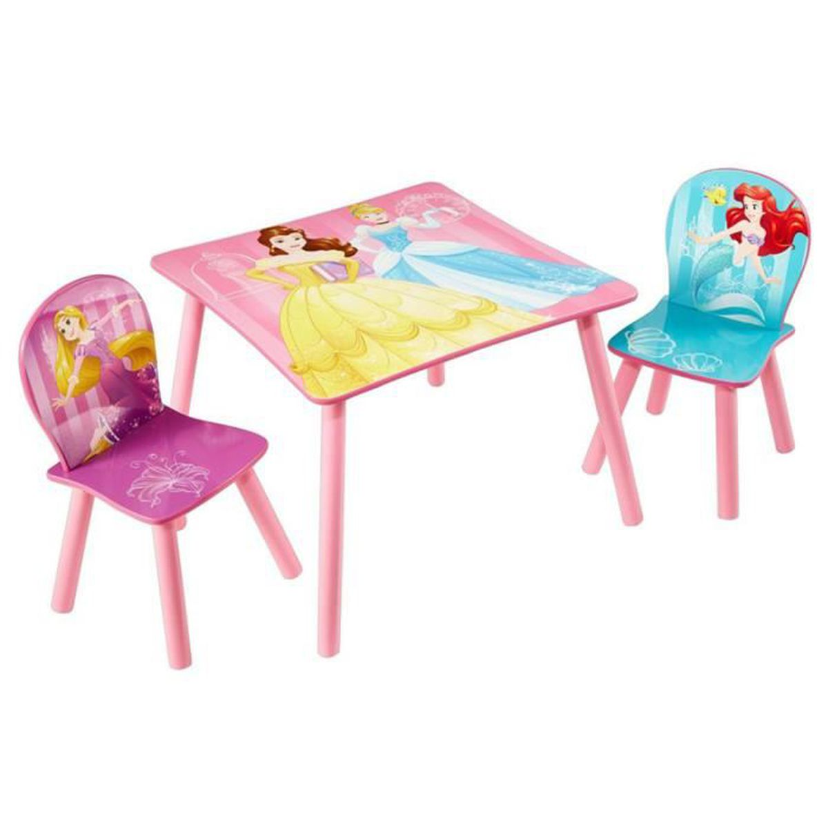 ensemble table et 2 chaises pour enfant motif disney princesses achat vente chaise. Black Bedroom Furniture Sets. Home Design Ideas