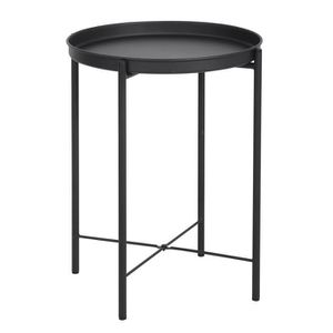 BOUT DE CANAPÉ LENA Bout de canapé en métal - Noir - L 43,5 cm