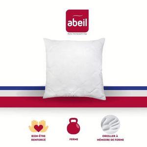 OREILLER ABEIL Oreiller à mémoire de forme matelassé 60x60