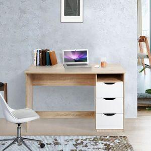 BUREAU  Aingoo bureau avec rangement - Trois tiroirs et un