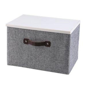 BOITE DE RANGEMENT Boîte de rangement en tissu moderne avec couvercle