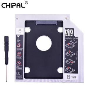 HOUSSE DISQUE DUR EXT. CHIPA Universel Double LED 2nd HDD Caddy 9.5mm SAT