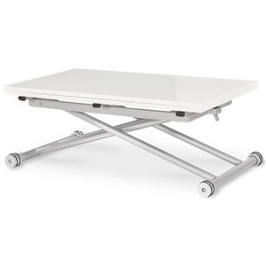 TABLE BASSE Table basse relevable Philadelphia Blanc laqué