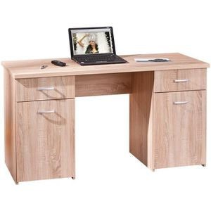 bureau chene massif achat vente bureau chene massif pas cher cdiscount. Black Bedroom Furniture Sets. Home Design Ideas