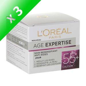 HYDRATANT VISAGE L OREAL PARIS Expert Anti-Age 55+ Jour (Lot de 3)