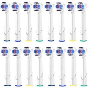 BROSSE A DENTS 16 Brossettes - White Plus - Têtes de Remplacement