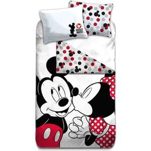 HOUSSE DE COUETTE SEULE Mickey & Minnie Parure de lit Vintage - Housse de