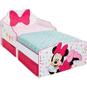 LIT EVOLUTIF Minnie Mouse - Lit pour enfants avec espace de ran