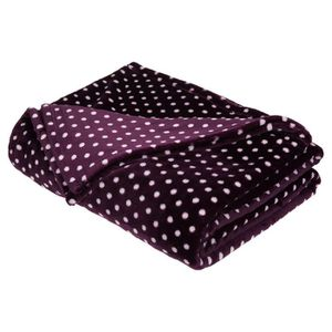 plaid violet achat vente plaid violet pas cher cdiscount. Black Bedroom Furniture Sets. Home Design Ideas