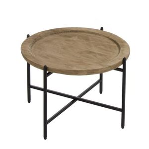 TABLE D'APPOINT Home Decor - Table Auxiliaire Ronde Colonial 44 cm