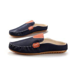 CHAUSSURES BATEAU Pu hommes chaussures bateau mocassin plat Bleu