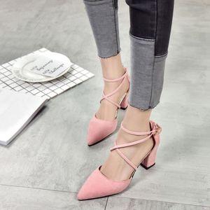 ESCARPIN Casual Toe Pointu  Fashion Square chaussures de ma