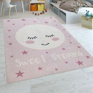 Tapis chambre fille rose