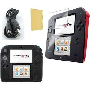 PACK ACCESSOIRE Pack 3 en 1 Nintendo 2DS : Housse silicone noir -