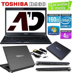 Achat PC Portable Toshiba R930 Core i3 160Go 4Go pas cher