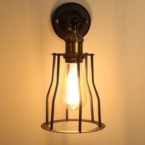LUSTRE ET SUSPENSION Retro Metal Applique Cage Vintage Luminaire Antiqu