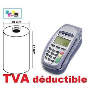 Bobine Terminal Carte Bancaire Papier Thermique Rouleaux Machine Carte TPE