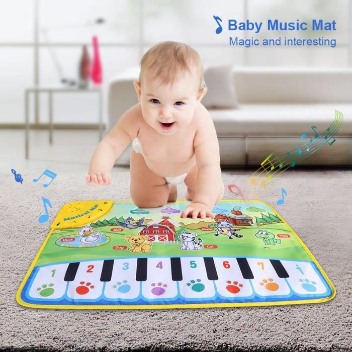 Tapis D'Eveil QAT3F Bébé Musique Mat Enfants Crawling Piano Tapis éducation musicale jouets pour enfants cadeaux, bébé Musique Mat,