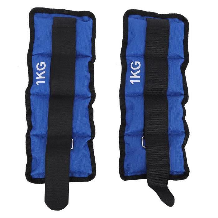 2 pièces jambe cheville poignet sac de sable poids sangle équipement de musculation pour gym fitness yoga course (1 kg)