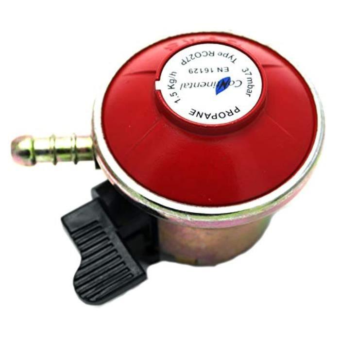 Meuble De Cuisine Exterieure UH988 Régulateur de gaz de patio / barbecue 27Mm Clip sur 37Mbar, 1.5Kgh pour gaz calor / Flogas
