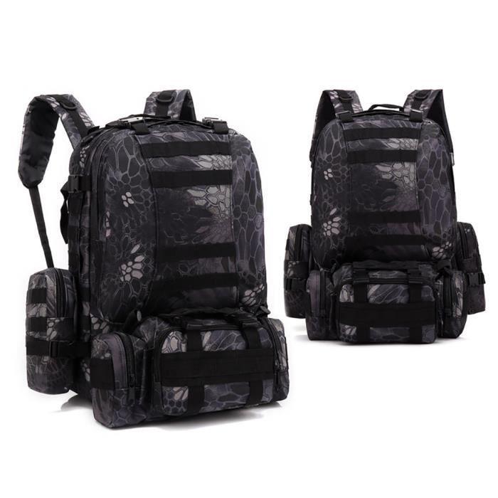 55L Molle Outdoor Bag Camping Randonnée Trekking Sac à dos BRF90606010E_7274